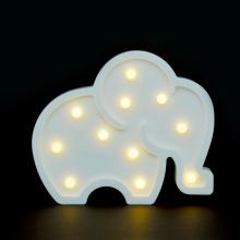 LED무드등[코끼리화이트] 북유럽 마퀴라이트 취침등 코끼리조명