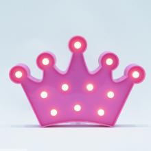 LED무드등[왕관핑크] 북유럽 마퀴라이트 취침등 왕관조명