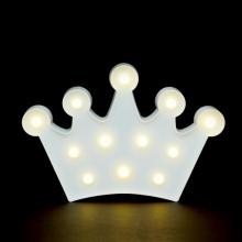 LED무드등[왕관화이트] 북유럽 마퀴라이트 취침등 왕관조명