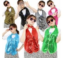 반짝이조끼 성인 아동 반짝이옷 무대 파티의상