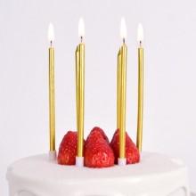 메탈릭캔들 골드 생일파티 촛불 생일초