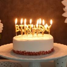 생일캔들 [HAPPY BIRTHDAY] 메탈릭골드