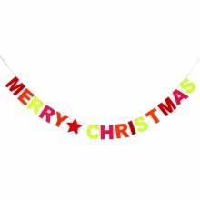 펠트크리스마스배너(칼라) 벽 천정 크리스마스 가랜드