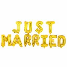 저스트메리드 골드 (알파벳세트) JUST MARRIED 호일 글자 풍선