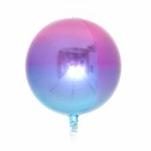 옹브레 오브(Orbz) 퍼플앤블루 헬륨 은박 미러호일풍선