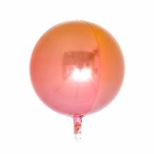 옹브레 오브(Orbz) 레드앤오렌지 헬륨 은박 미러호일풍선