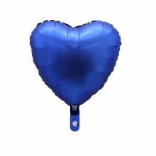 18인치하트 사틴럭스파스텔네이비 헬륨 호일 풍선장식