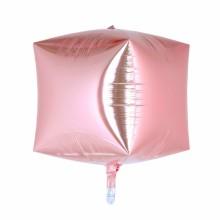 큐브(Cubez) 로즈골드 은박 헬륨 호일 사각 풍선 장식