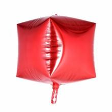 큐브(Cubez) 레드 은박 헬륨 호일 사각 풍선 장식