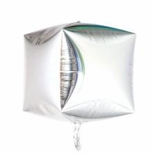 큐브(Cubez)실버 은박 헬륨 호일 사각 풍선 장식