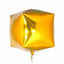 큐브(Cubez)골드 은박 헬륨 호일 사각 풍선 장식