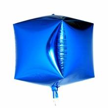 큐브(Cubez)블루 은박 헬륨 호일 사각 풍선 장식