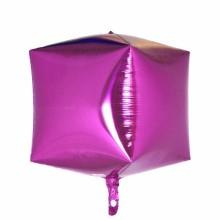 큐브(Cubez)브라이트핑크 은박 헬륨 호일 사각 풍선