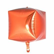 큐브(Cubez)오렌지 은박 헬륨 호일 사각 풍선 장식