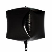 큐브(Cubez)블랙 은박 헬륨 호일 사각 풍선 장식