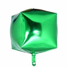 큐브(Cubez)그린 은박 헬륨 호일 사각 풍선 장식