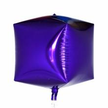 큐브(Cubez)퍼플 은박 헬륨 호일 사각 풍선 장식