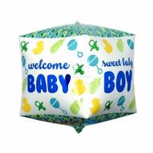 큐브(Cubez)스위트보이 은박 헬륨 호일 사각 생일풍선