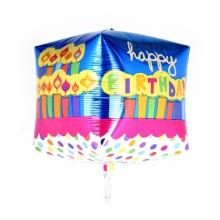 큐브(Cubez) 생일케익 은박 헬륨 호일 사각 풍선