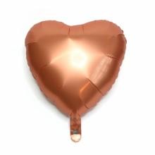 18인치하트사틴럭스앰버 은박 헬륨 호일 파티 풍선