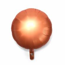 18인치원형사틴럭스앰버 은박 헬륨 호일 파티 풍선