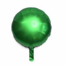 18인치원형사틴럭스에메랄드 은박 헬륨 호일 풍선