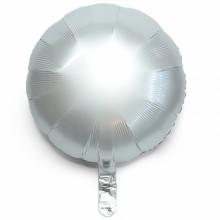 18인치원형사틴럭스화이트 은박 헬륨 호일 파티 풍선