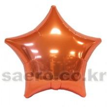 19인치별메탈오렌지 은박 헬륨 호일 파티용품소품 풍선