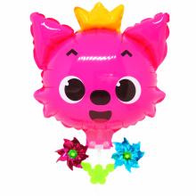 핑크퐁여우 캐리바람개비풍선 캐릭터풍선 놀이동산