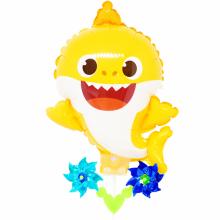 핑크퐁상어 캐리바람개비풍선 캐릭터풍선 놀이동산