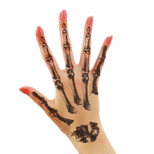 할로윈타투(손뼈) 스티커 상처 흉터 특수 분장 소품