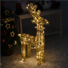 니켈사슴60센티(전구포함)크리스마스 사슴장식 니켈도금