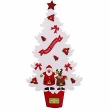 펠트트리(화이트) 벽트리 크리스마스 벽걸이 장식 소품