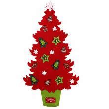 펠트트리(레드) 벽트리 크리스마스 벽걸이 장식 소품