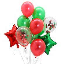 컨페티은박풍선세트13입(크리스마스) 2색혼합