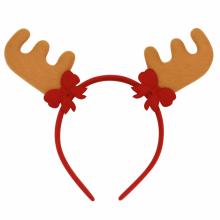 리본갈색루돌프머리띠 파티 생일 크리스마스 머리띠