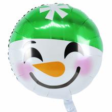아나그램 원형풍선 45cm 눈사람모자이모티콘 은박호일