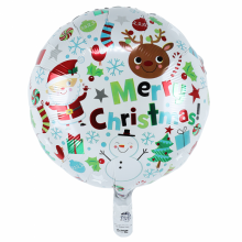 아나그램 원형 메리크리스마스아이콘45cm 은박 호일