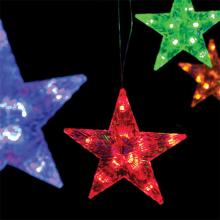 LED100무늬별투명선 크리스마스 조명