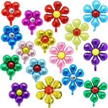 은박꽃풍선모음 꽃잎 꽃모양 은박 호일 파티장식