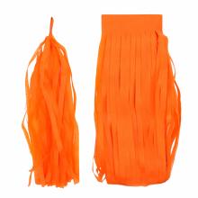 페이퍼태슬(5입)오렌지 벌룬테일 가랜드