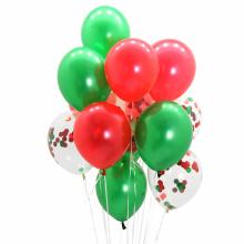컨페티풍선15입(크리스마스) 파티 장식 2색혼합 헬륨