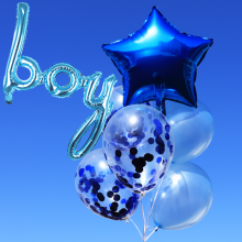 컨페티은박풍선세트8입(보이블루) 투명풍선 은박 생일축하 홈파티 브라이덜샤워