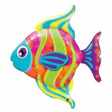 퀄라텍스 라지쉐잎 패셔너블피쉬 은박호일풍선