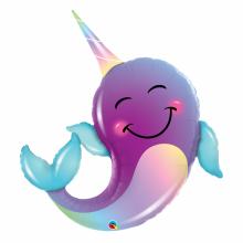 퀄라텍스 라지쉐잎 파티고래 은박호일풍선