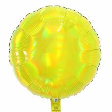 아나그램 원형풍선 45cm 이리데슨트 옐로우