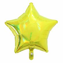아나그램 별풍선 48cm 이리데슨트 옐로우 은박 호일