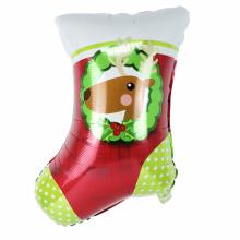 아나그램 주니어쉐잎 크리스마스 스타킹 은박풍선
