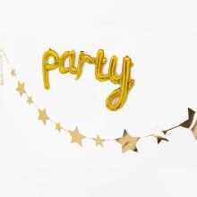 유광별가랜드(골드) 셀프 생일파티 백일상 종이 장식