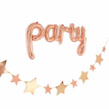 유광별가랜드(로즈골드) 셀프 생일파티 백일상 종이 장식